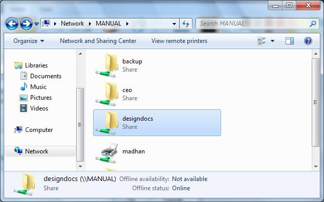 Mapping Drives - Windows 7 on